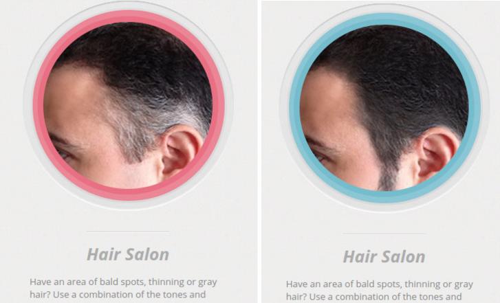 髪のボリュームを変える