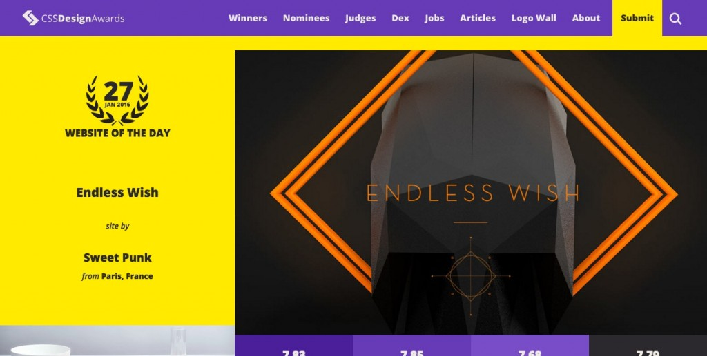 CSS Design Awards - Website Awards-
