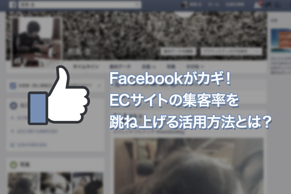 Facebookがカギ!ECサイトの集客率を跳ね上げる活用方法とは?