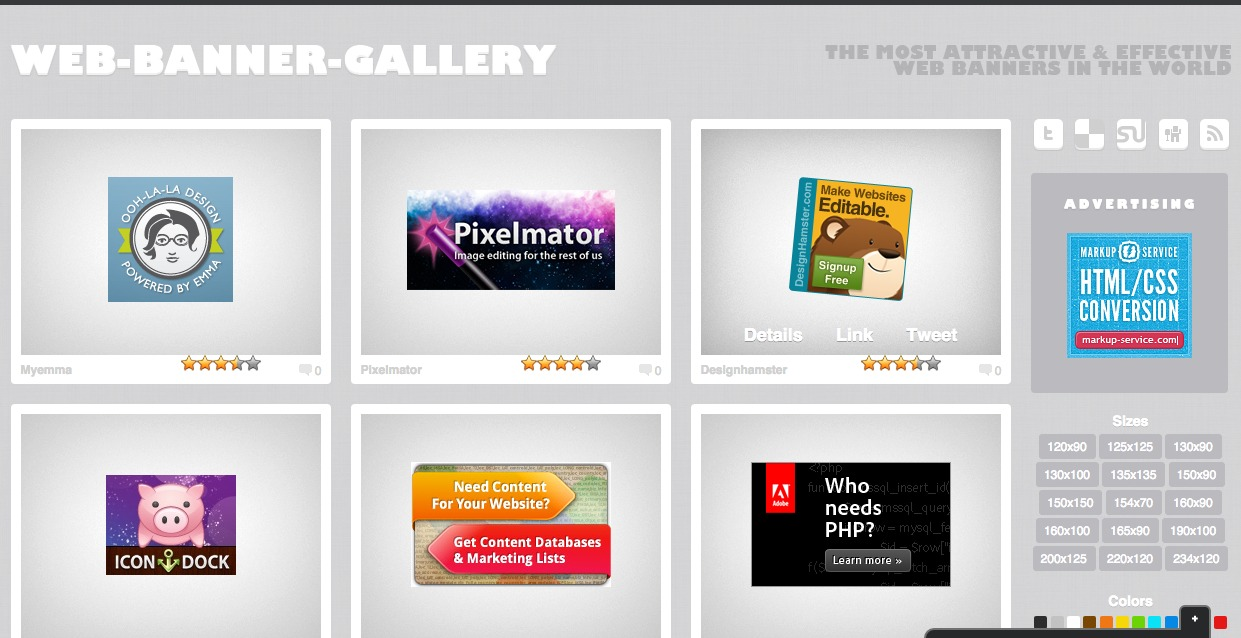 Web Banner Gallery - Most effective-